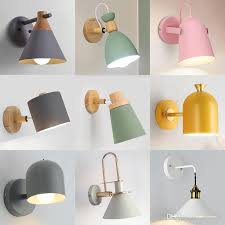 nordic wall lamp cartoon childrens room bedside rotatable iron e27 living aisle stairs desk reading lighting