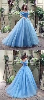 <b>Custom Made</b> Tulle Blue <b>Ball Gown</b> Prom Dresses, Elegant Blue ...