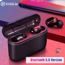 mifa x1 wireless tws bluetooth earphone touch control 3d stereo headphone headset with microphone and power bank sports