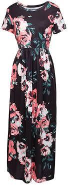 PARTY LADY <b>Women's</b> Casual <b>Floral Printed</b> Long Maxi Dress <b>S</b>-<b>2XL</b>
