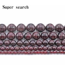 Mega Discount #d5fb - <b>Natural</b> Stone Dark Red Garnet Round ...