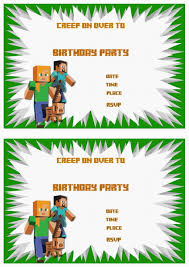 minecraft birthday invitation net minecraft birthday invitations birthday printable birthday invitations