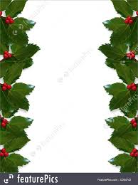templates christmas holly border stock illustration i2254742 at christmas design holly leaves for greeting card invitation border or background copy space