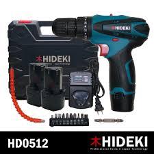 Hideki <b>HD0512</b> Cordless Driver Drill Complete <b>Set</b> | Shopee ...