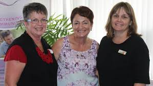 morcombes thank beaudesert for support photos beaudesert times finella loch jeanne knight and margie delaforce were at the community morning tea for bruce