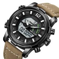 megir 2089 <b>military</b> sport style <b>led</b> dual display <b>men watch</b> at ...