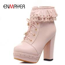 <b>ENMAYER Motorcycle</b> Fashion <b>Boots</b> New Round Toe Ankle <b>Boots</b> ...