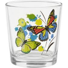 <b>стакан ода 250 ml</b> танец бабочек микс осз (05c1249) (1*30)