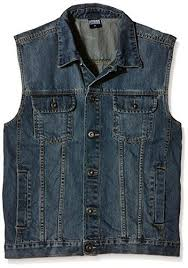 <b>Urban Classics</b> Men's Denim Vest Quilted Sleeveless Gilet, Black