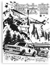 """Skyline <b>GT</b>-<b>R Hakosuka</b> Outlaw"" Metal Print by OlegMarkaryan ..."
