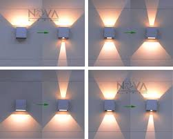 cree outdoor wall light led up down wall sconces adjustable wall lamp garden light ip65 cheap sconce lighting