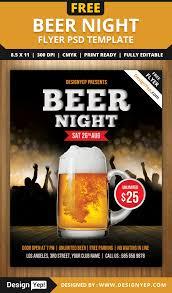 beer night flyer psd template designyep beer night flyer psd template