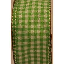 "Offray 1.5"" Apple Green <b>Gingham Check Ribbon</b>, 9 Feet, <b>1</b> Each ..."