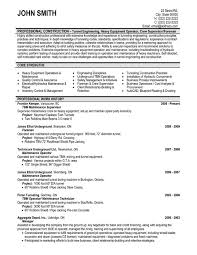 sample maintenance resume - Template - Template sample maintenance resume