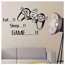 <b>Eat Sleep Game Wall</b> Stickers Boys Bedroom Art Letter DIY Kids ...