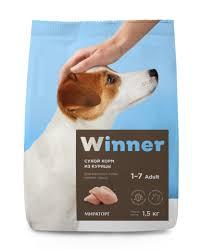 Winner <b>корм</b> для взрослых собак малых пород, курица