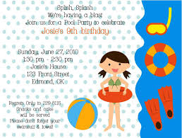 th birthday pool party invitation wording custom invitations amusing pool birthday party invitation template