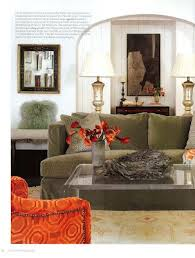space living room olive: betty burgess one of my favorite designers uses dreamy olive green velvet sofa with