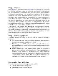 essay about drugs addiction   reportzwebfccom essay about drugs addiction