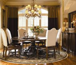 Formal Dining Room Sets For 10 Round Dining Room Sets Nailhead Trim Incredible 48 Round