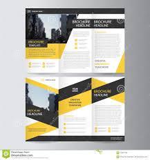 blue business trifold leaflet brochure flyer template design book yellow black trifold leaflet brochure flyer template design book cover layout design royalty stock