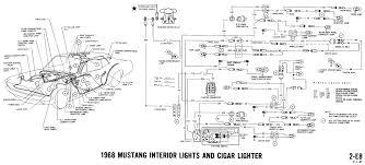 1968 mustang wiring diagrams and vacuum schematics average joe 1968 mustang wiring diagram interior lights cigar lighter