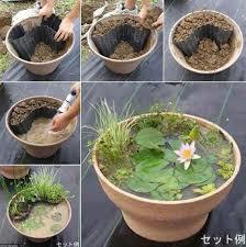 diy patio pond:  mini pond in a pot woohome