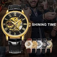 <b>2019 FORSINING</b> 3D Logo Black Gold <b>Men</b> Mechanical <b>Watch</b> ...