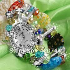 <b>2PCS</b> Crystal Murano Glass <b>Beads</b> Bracelet Bangle+ <b>Round</b> Watch ...