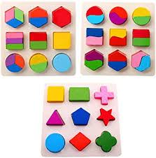 Amberetech <b>Wooden Toys</b> Color Math Shapes Geometric <b>Puzzles</b> ...