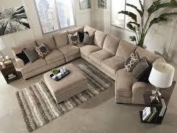 sorento 5pcs oversized modern beige fabric sofa couch sectional set living room ifd furnishings beige sectional living room