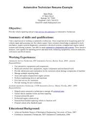 auto mechanic resume sample excellent summary of skills and auto mechanic resume sample excellent summary of skills and qualifications and list of work history