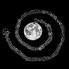 <b>Full Moon</b> Silver <b>Necklace</b> – Shire Post Mint
