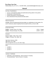 Waitstaff Resume Template