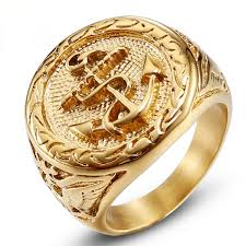 <b>2019 Jingyang Stainless Steel</b> Biker Gold Rings Ring Simple High ...