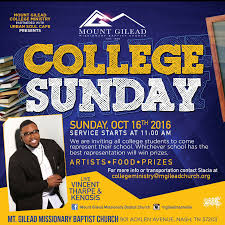 college sunday the light nashville the college ministry at mount gilead missionary baptist church where breonus mitchell is pastor and urban soul cafe presents college sunday 16th