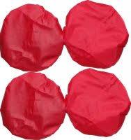 <b>Чехлы</b> на колеса для коляски <b>Baby Care</b> красные 4 шт