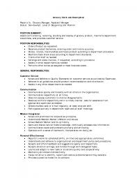 cover letter template for s clerk job description sample resume gallery of grocery store manager job description