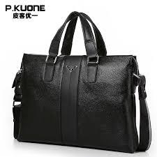 P.KUONE <b>Genuine Leather</b> Man Fashion <b>Briefcase</b> High Quality ...