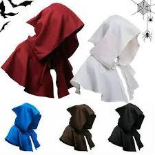 ADULT <b>HOODED CLOAK</b> Costume <b>Gothic</b> Devil Cape Medieval ...