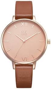 <b>SHENGKE Women Watches</b> Leather Band Luxury <b>Quartz Watches</b>