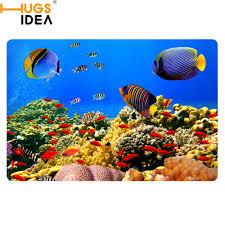 fish bathroom rug
