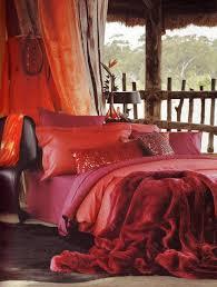 how to arrange bohemian bedroom decor bold colors red bedding set arrange bedroom decorating