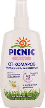 <b>Спрей PICNIC Baby от</b> комаров – купить в сети магазинов Лента.