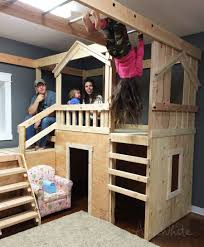 build a basement indoor playground with monkey bars playhouses can be used as beds or bunk beds free plans by ana whitecom ana white build office