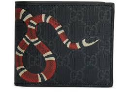 Gucci Kingsnake <b>Wallet</b> GG Supreme (8 <b>Card Slots</b>) Black
