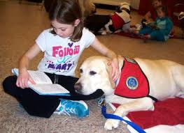 Image result for dogs help children to read