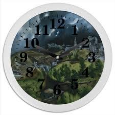 Часы круглые из пластика <b>Вид Толедо</b> (<b>картина</b> Эль Греко ...