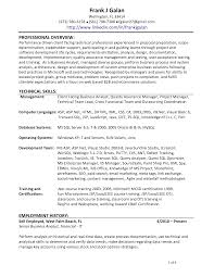 sample business analyst resume entry level create test example entry level resume