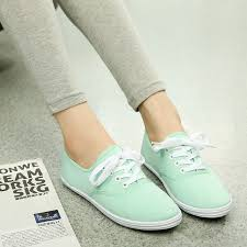 <b>Woman</b> Shoes Canvas White Sneakers Casual Fashion <b>Solid Color</b> ...